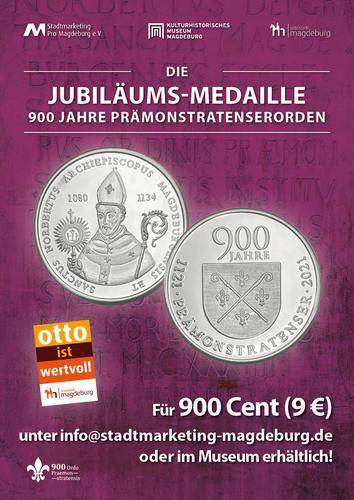 Magdeburg-Medaille zum Prämonstratenser-Jubiläum